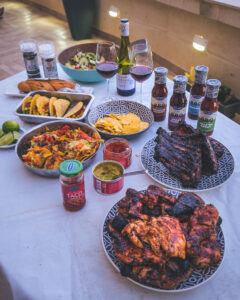 A great BBQ spread featuring the Santa Maria range.