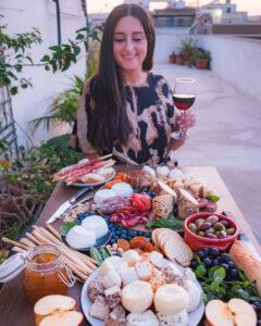 Cheese board featuring Hanini